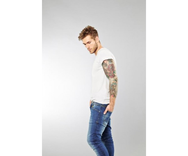 T-Shirt (2-er Pack) - Slim Fit - weiß