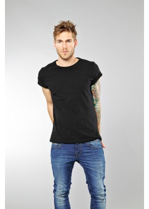 T-Shirt (2-er Pack) - Slim Fit - schwarz