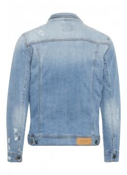 Jeansjacke - Regular Fit - blau
