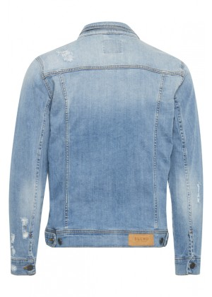 Jeansjacke - Regular Fit - blau