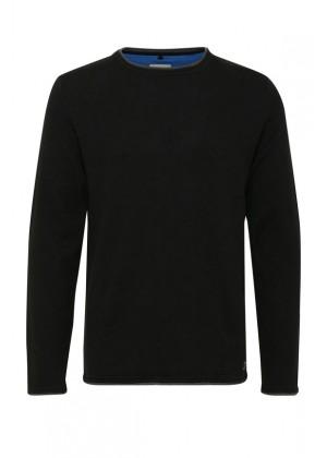 Pullover - Slim Fit - schwarz