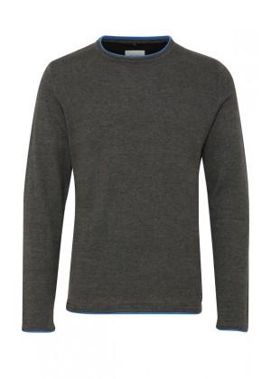 Pullover - Slim Fit - grau