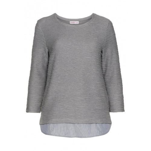 Sheego - Sweatshirt - grau | LapreZa Online Shop