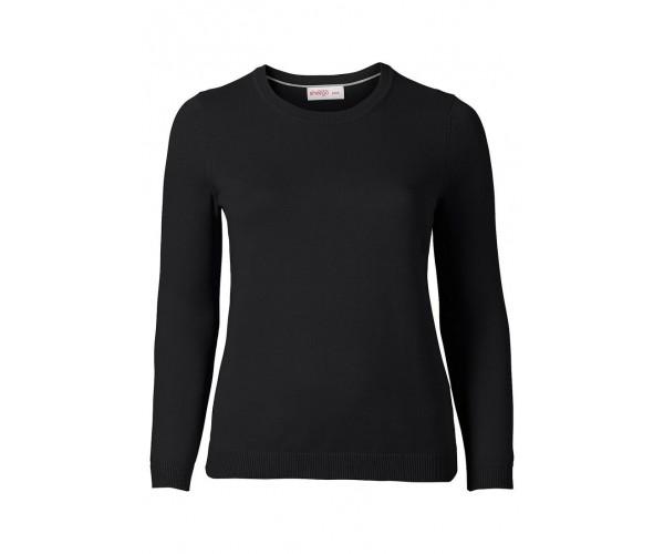 Basic Pullover - schwarz