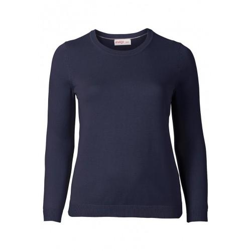 Sheego - Basic Pullover - marine | LapreZa