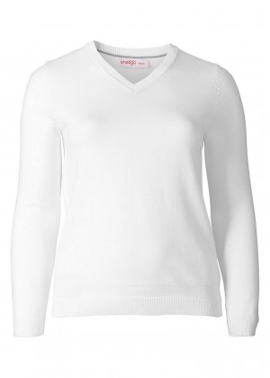 Basic Pullover - weiss