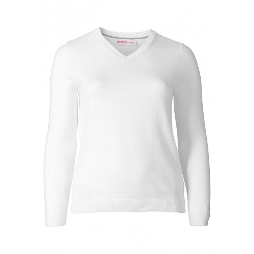 Sheego - Basic Pullover - weiss | LapreZa