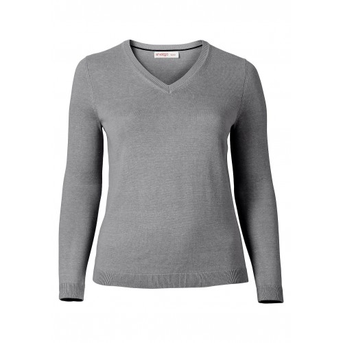 Sheego - Basic Pullover - Grau | LapreZa