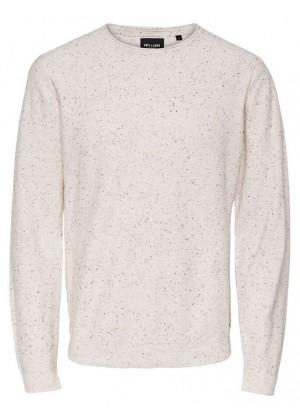 Pullover - weiß/beige