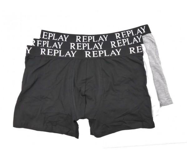 Boxershorts - schwarz / weiß / grau - 3er Pack