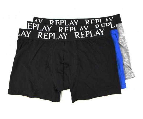 Boxershorts - schwarz / grau / türkis - 3er Pack