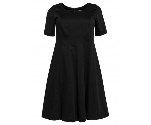 Bahnenkleid - schwarz