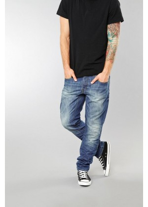 Jeans - Regular Fit - blau