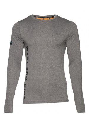 Langarmshirt - Muscle Fit - grau