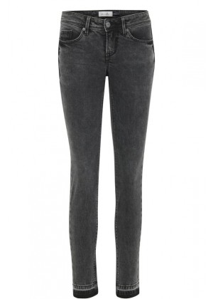 Jeans - Slim Fit - Low waist - grau