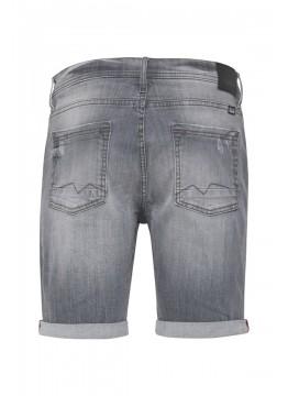 Denim Shorts - Slim Fit - grau
