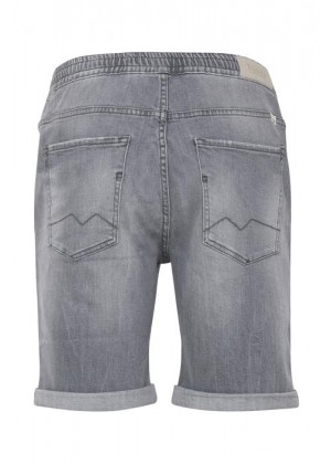 Denim Shorts - Slim Fit - grau