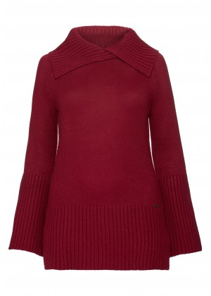 Pullover - Rollkragen - bordeaux