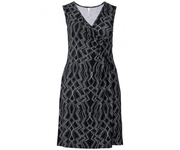 Jerseykleid - schwarz / grau