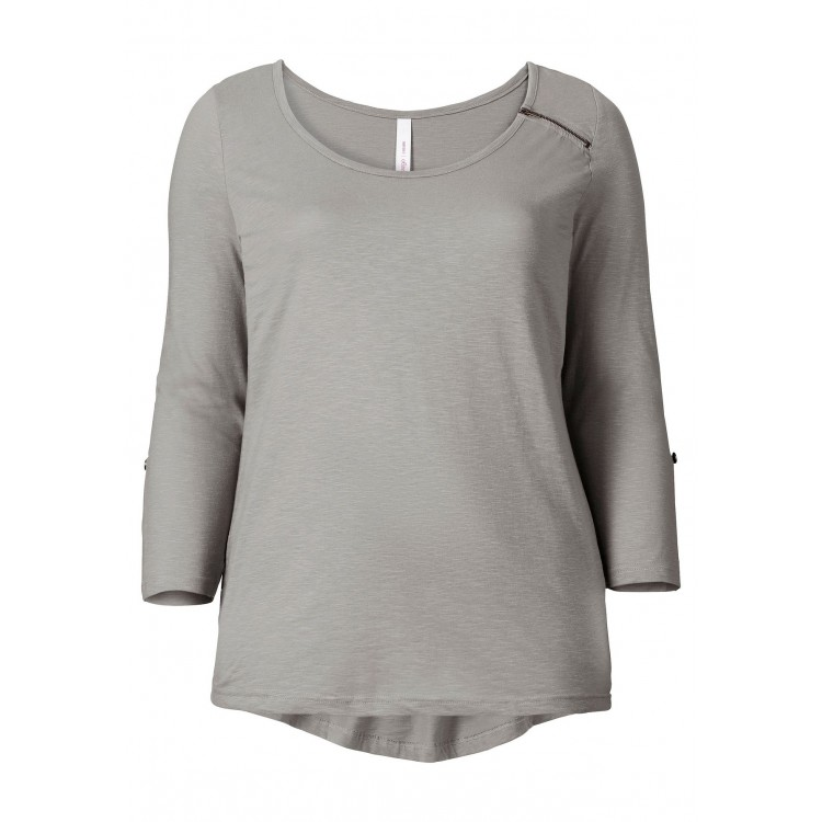 Exklusive Angebote Größe 40 Veröffentlichungsdatum: Sheego - Longshirt - grau