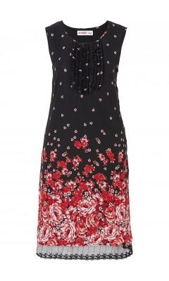 Kleid - rot / schwarz