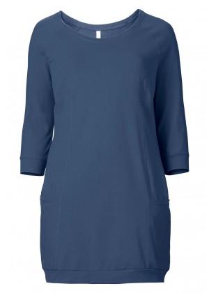 Jerseykleid - rauchblau
